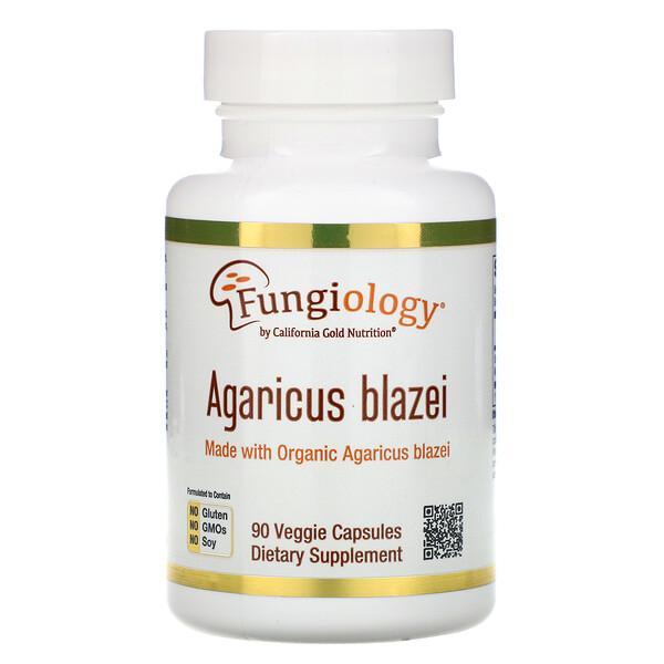 Агарик бразильский, с полным спектром, сертифицированный органический продукт, 90растительных капсул