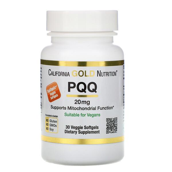 California Gold Nutrition, Пирролохинолинхинон, 20мг, 30растительных капсул