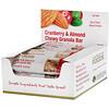California Gold Nutrition, Foods, жевательные батончики-мюсли с клюквой и миндалем, 12батончиков весом 1,4унции (40г) каждый