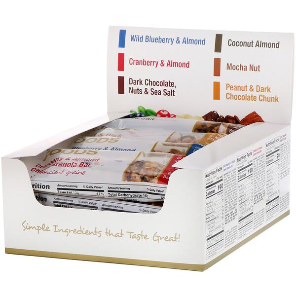 California Gold Nutrition, Foods, ассорти батончиков-снеков, 12 батончиков весом 1,4унции (40г) каждый