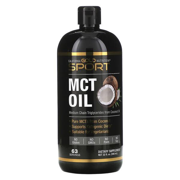 California Gold Nutrition, Sport, масло со среднецепочечными триглицеридами, 946мл (32жидк.унции)