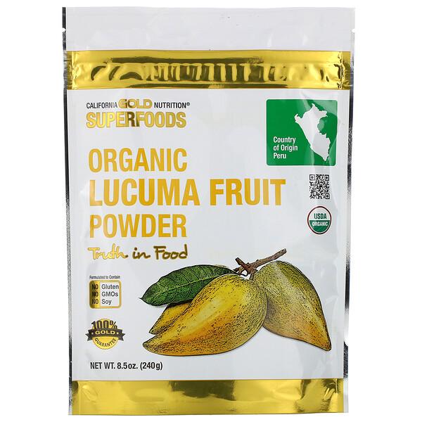 Superfoods, органический порошок из плодов лукумы, 240г (8,5унции)