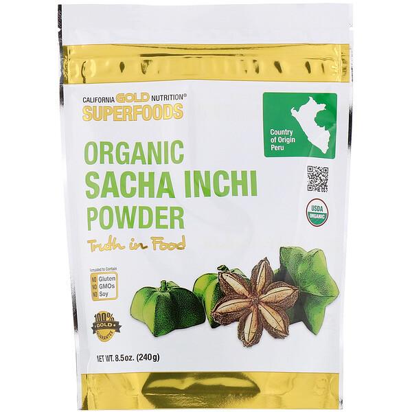 California Gold Nutrition, Superfoods, органический порошок сача инчи, 240г (8,5унции)