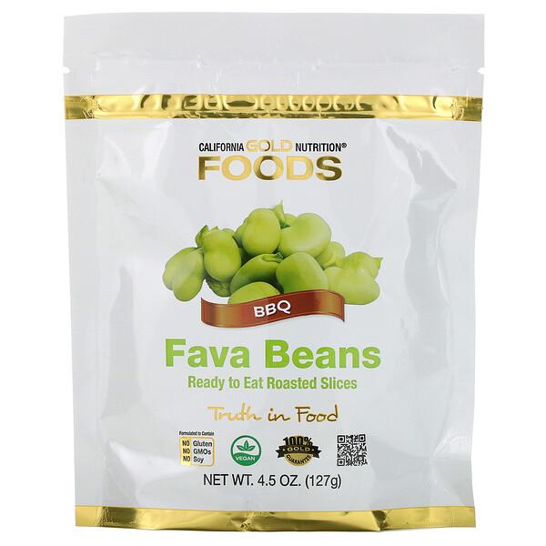 California Gold Nutrition, Foods, стручковая фасоль, готовые к употреблению жареные ломтики, барбекю, 4,5унции (127г)