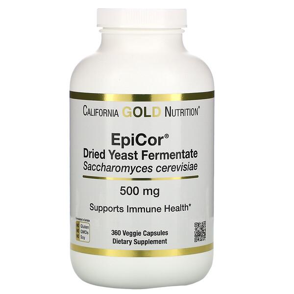 California Gold Nutrition, EpiCor®️, сухой дрожжевой ферментат, 500мг, 360растительных капсул