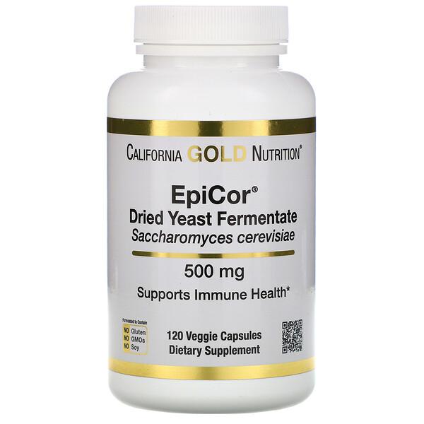 EpiCor, сухой дрожжевой ферментат, 500мг, 120 растительных капсул