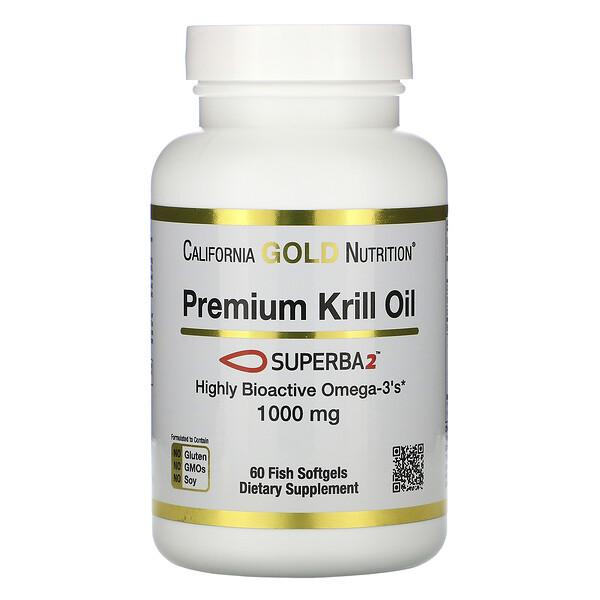 SUPERBA2™, масло криля премиального качества, 1000мг, 60мягких таблеток