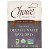 Choice Organic Teas, Black Tea, Organic Decaffeinated Earl Grey, Decaf, 16 Tea Bags, 1.12 oz (32 g)
