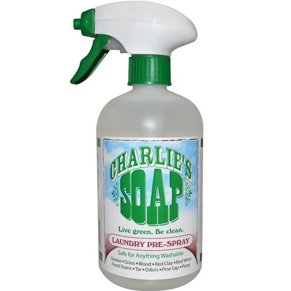 Charlie's Soap, Спрей-пятновыводитель для нанесения перед стиркой, 16.9 жидких унций (500 мл) (Discontinued Item)