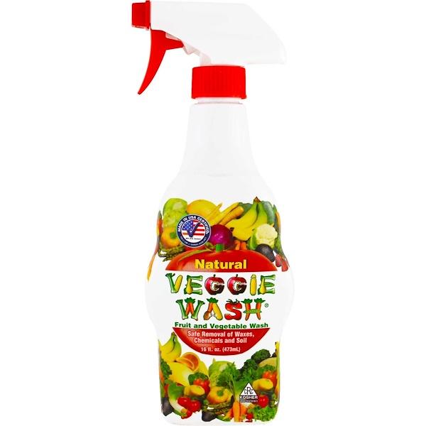 Citrus Magic, Veggie Wash, средство для мытья фруктов и овощей, 473 мл (16 жидких унций)