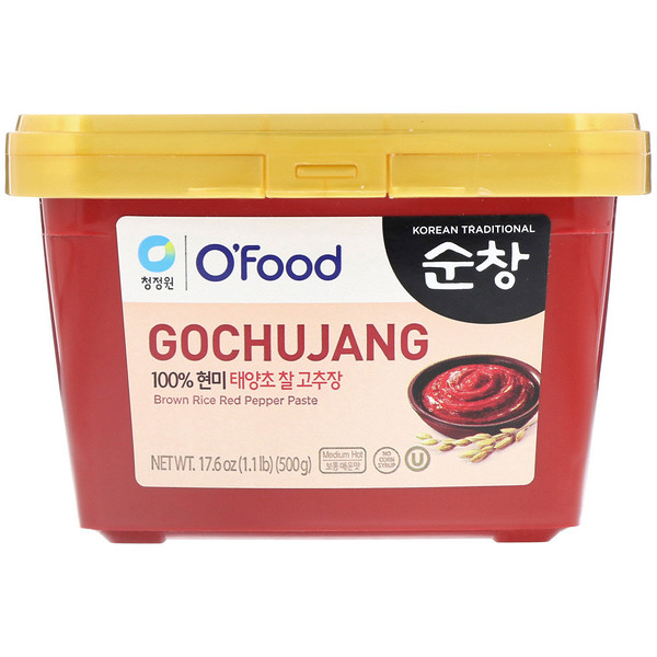 Chung Jung One, Паста из красного перца Гочуджан с коричневым рисом, 1,1 фунта (500 г) (Discontinued Item)