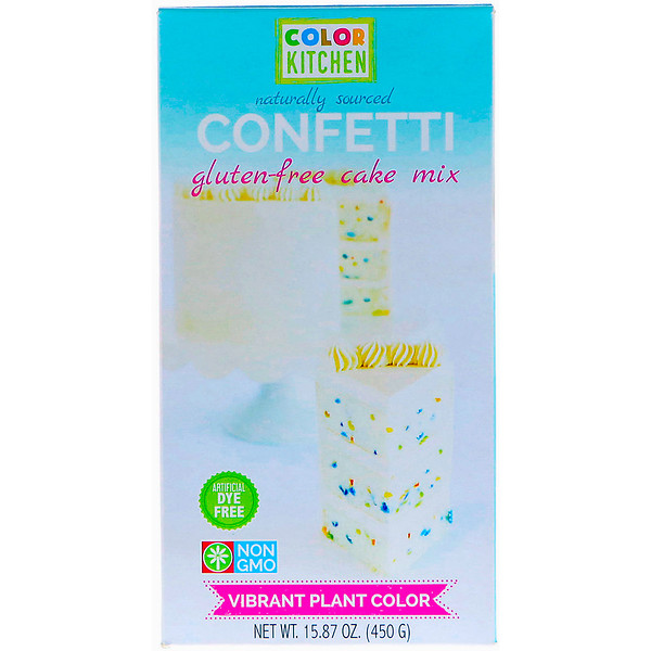 ColorKitchen, Безглютеновая смесь для торта, Конфетти, 15,87 унц. (450 г) (Discontinued Item)
