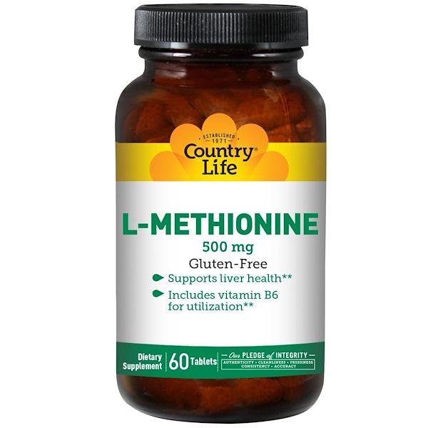 L-метионин, 500 мг, 60 таблеток
