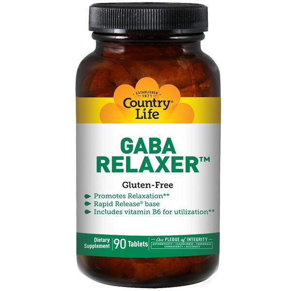 Country Life, GABA Relaxer, 90 таблеток
