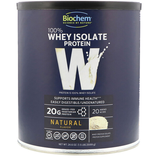 100% Whey Isolate Protein, Natural, 24.6 oz (699 g)
