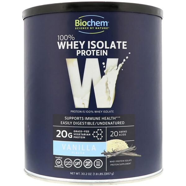 100 % изолят сывороточного протеина с ванильным вкусом, 857 г (1,8 фунта)