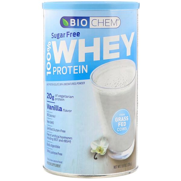 100% Whey Protein, Sugar Free, Vanilla, 11.8 oz (336 g)