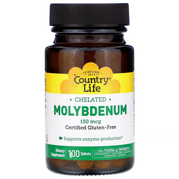 Хелатный молибден, 150 мкг, 100 таблеток