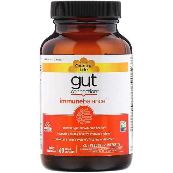 Gut Connection, Immune Balance, 60веганских капсул