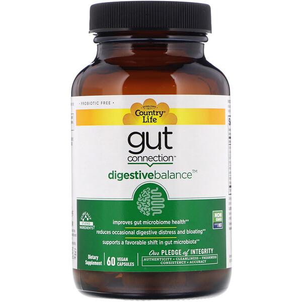 Gut Connection, Digestive Balance, 60веганских капсул