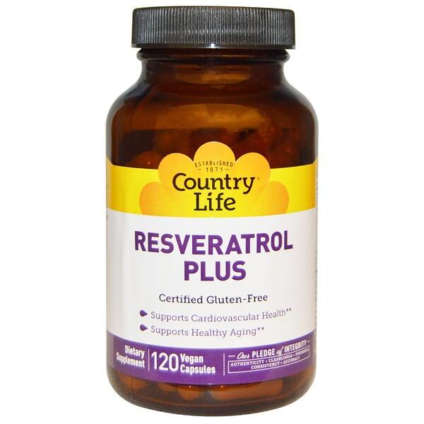 Добавка Resveratrol Plus, 120веганских капсул