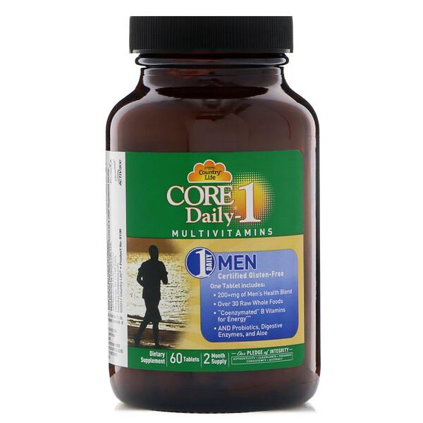 Мультивитамины Core Daily-1, для мужчин, 60 таблеток