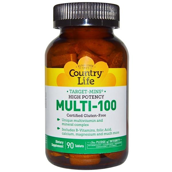 Country Life, Multi-100, 90 таблеток (Discontinued Item)