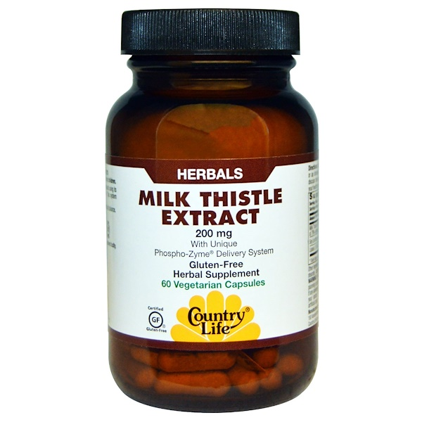 Country Life, Экстракт расторопши пятнистой, 200 мг, 60 вегетарианских капсул (Discontinued Item)