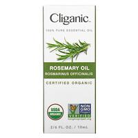 Cliganic, 100% Pure Essential Oil, Rosemary Oil,  2/6 fl. oz. (10 ml)