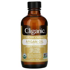 Cliganic, 100% Pure & Natural Argan Oil,  4 fl oz (120 ml)