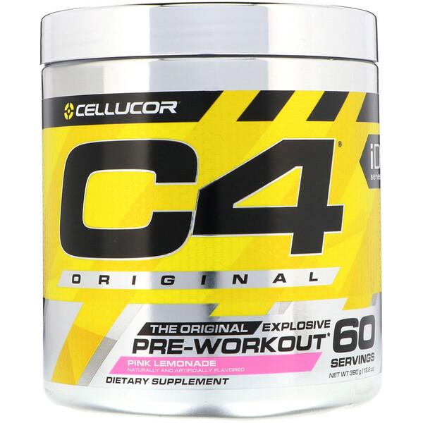 C4 Original Explosive, до тренировки, розовый лимонад, 13,8 унц. (390 г)
