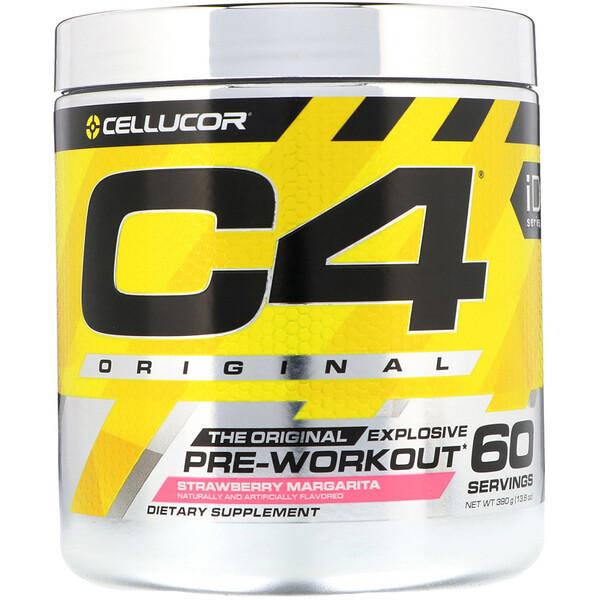 Cellucor, C4 Original Explosive, предтренировочный комплекс, со вкусом «Клубничная маргарита», 390г (13,8унций)