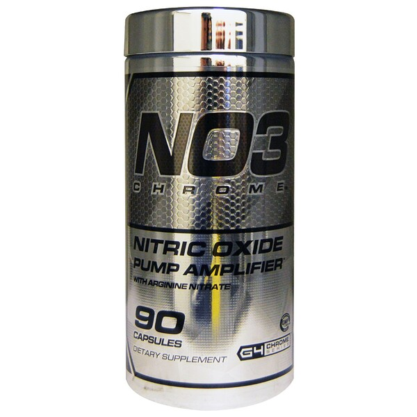 NO3 Chrome, усилитель тренировок с оксидом азота, 90 капсул