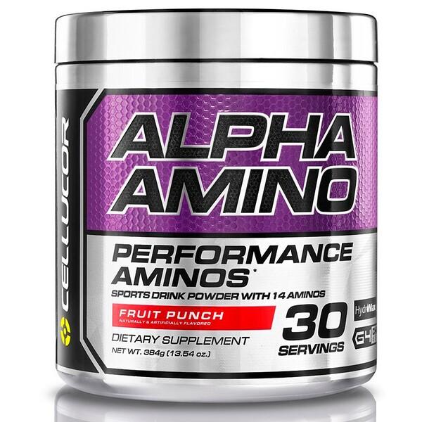 Alpha Amino, аминокислоты с разветвлённой цепью для производительности, фруктовый пунш, 13,4 унц. (381 г)