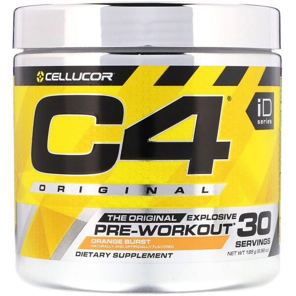 C4 Original, средство для улучшения работоспособности перед тренировкой, вкус апельсина, 195г (6,88унций)