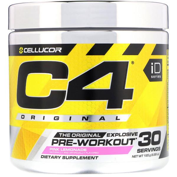 C4 Original Explosive, Pre-Workout, Pink Lemonade, 6.88 oz (195 g)