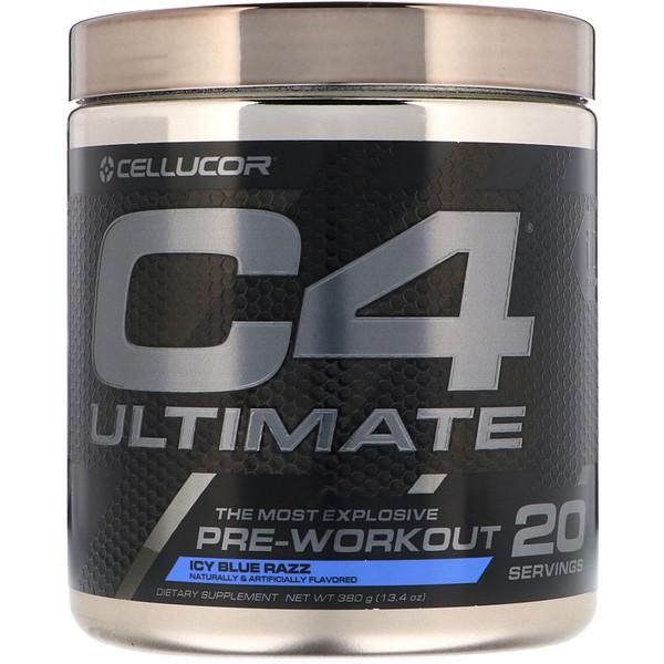 C4 Ultimate, средство для приема перед тренировкой, с освежающим вкусом малины, 380г (13,4унции)