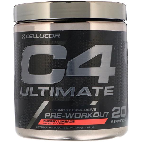 C4 Ultimate, предтренировочный, вишневый лаймад, 13,4 унц. (380 г)