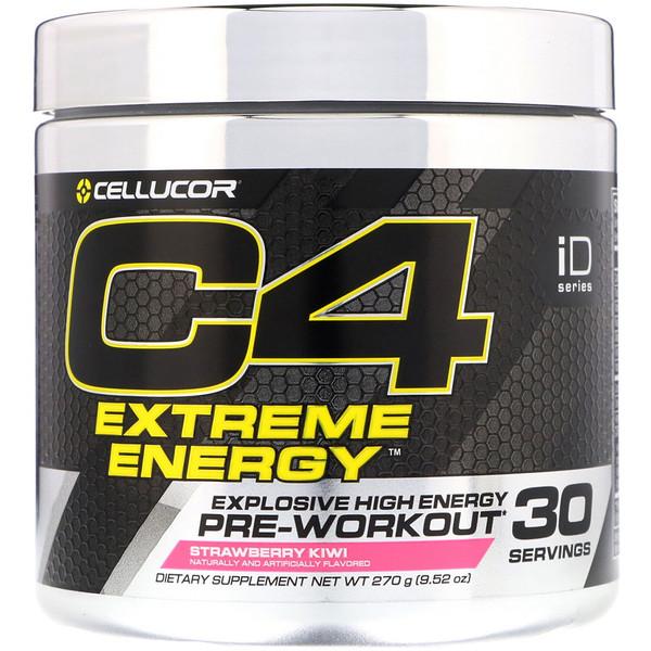 Cellucor, C4 Extreme Energy, Pre-Workout, Strawberry Kiwi, 9.52 oz (270 g)