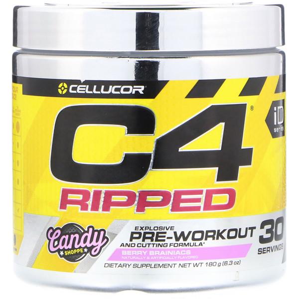 C4 Ripped Explosive, Pre-Workout, Berry Brainiacs, 6.3 oz (180 g)