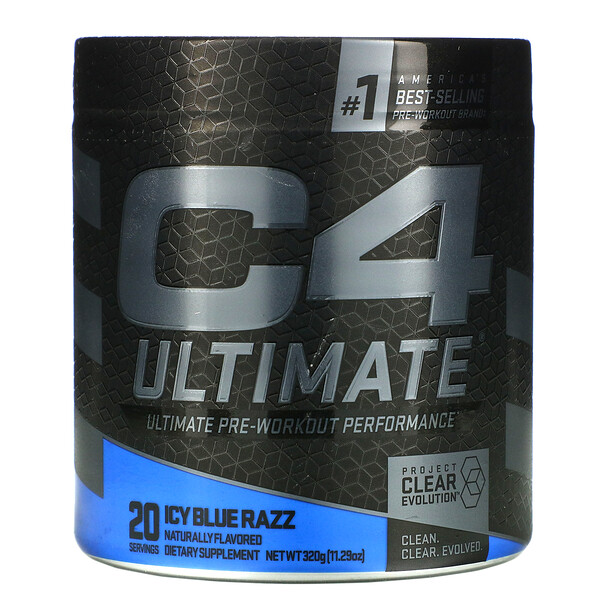 C4 Ultimate Pre-Workout Performance, Icy Blue Razz, 11.29 oz (320 g)
