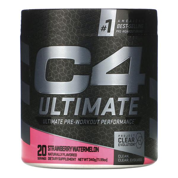 C4 Ultimate Pre-Workout Performance, Strawberry Watermelon, 11.99 oz (340 g)