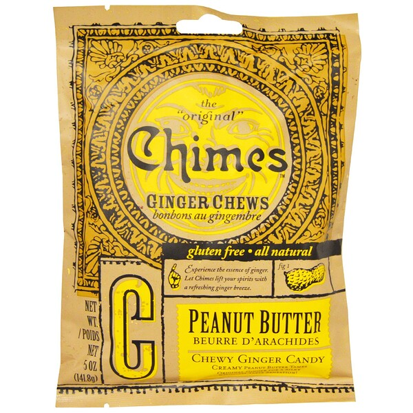 Chimes, Имбирные жевательные конфеты, арахисовое масло, 5 oz (141,8 г) (Discontinued Item)