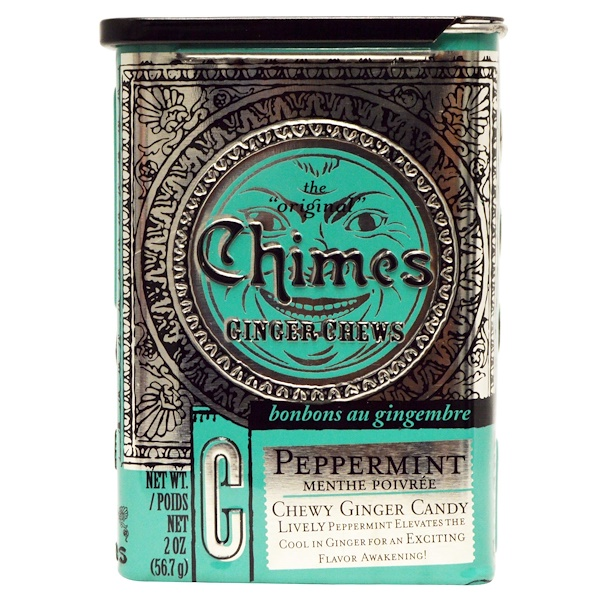 Chimes, Ginger Chews, Peppermint, 2 oz. (Discontinued Item)