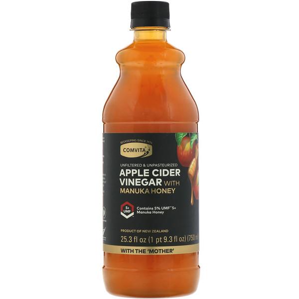 Яблочный уксус с медом манука, UMF 5+, 750 мл (25,3 жидк.унций)