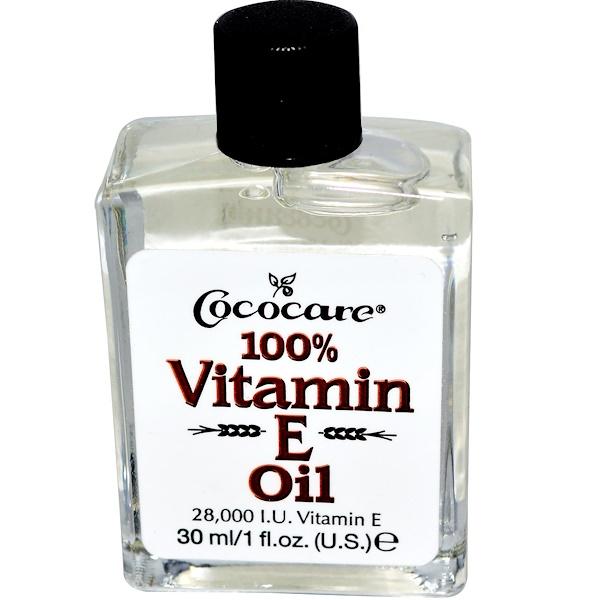 Cococare, 100% масло c витамином Е, 1 жидкая унция (30 мл)