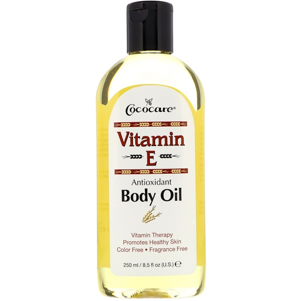 Cococare, витамин E, масло для тела, 250 мл (8,5 жидкой унции)