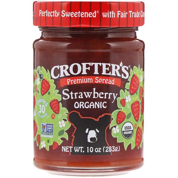 Crofter's Organic, Премиум-спред, клубника, органическая, 10 унций (283 г) (Discontinued Item)