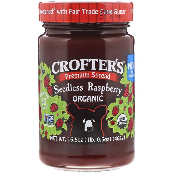 Crofter's Organic, Органический малиновый спред без косточек, 16,5 унц. (468 г) (Discontinued Item)