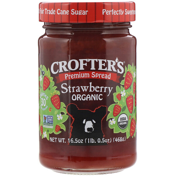 Crofter's Organic, Клубничный джем джем высшего качества, 468 г (Discontinued Item)